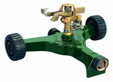 impact sprinkler brass with wheels