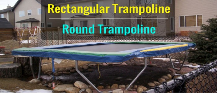 rectangular trampoline vs round